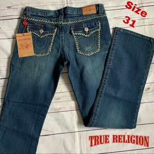 New True Religion size 31 Billy Boot Cut Jeans